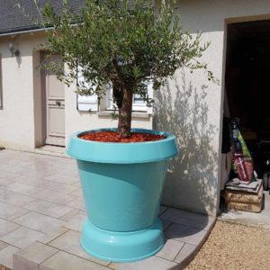 Pot de fleur avec support terrasse