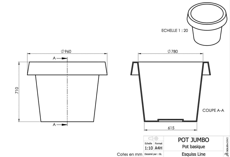 prototypage pot de fleur