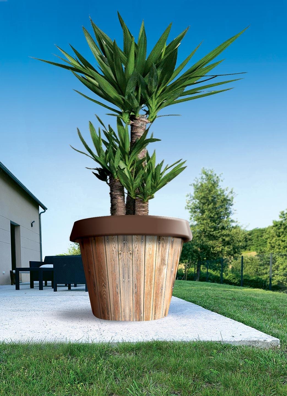 pot de fleur jumbo en bois
