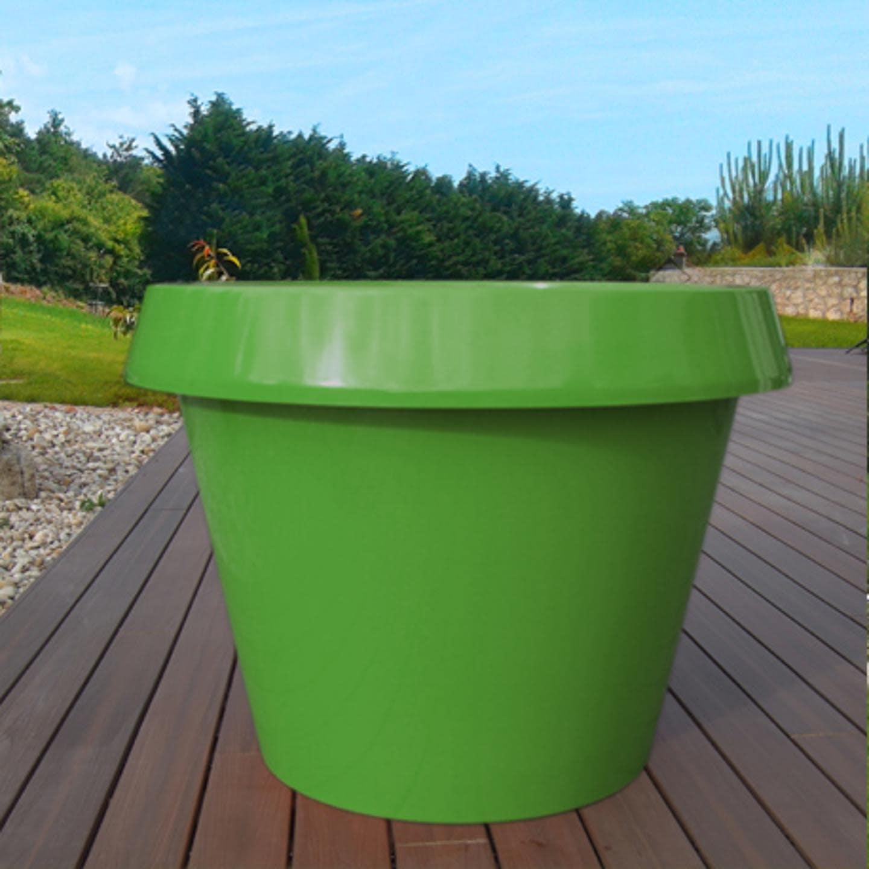 pot de fleur en matériaux composite vert