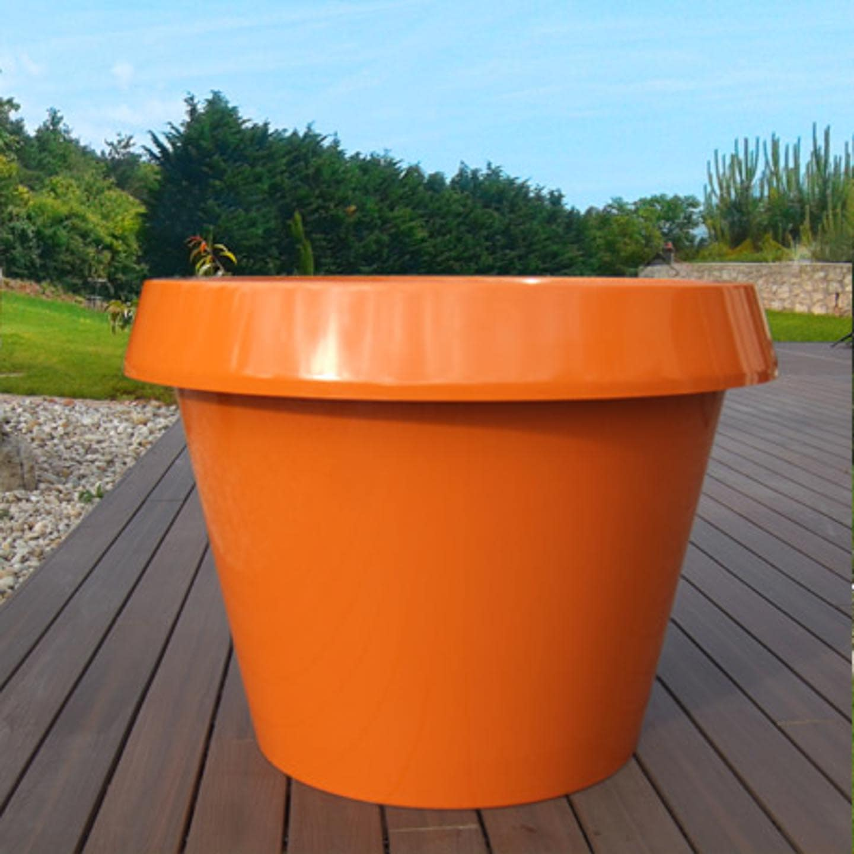 pot de fleur orange jumbo