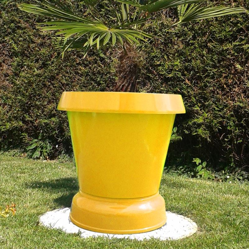 pot de fleur jumbo pelouse basse jaune