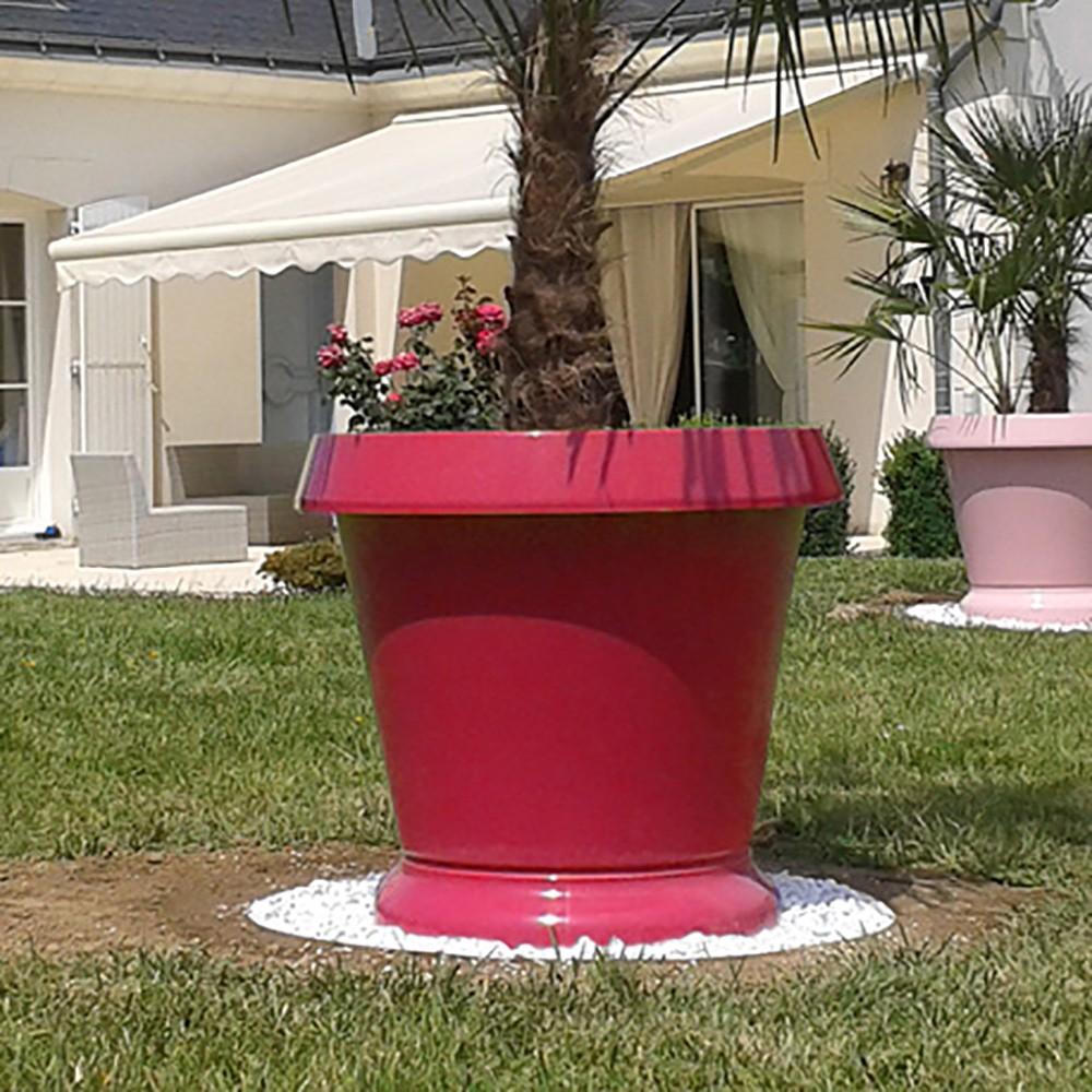 pot de fleur jumbo pelouse haute rouge