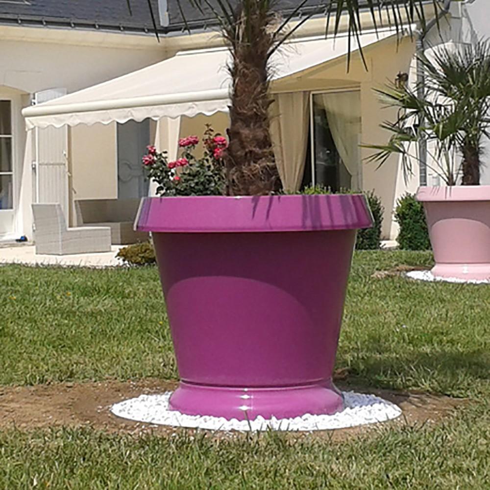pot de fleur jumbo pelouse haute violet